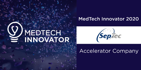 SepTec is accepted onto the Medtech Innovator 2020
